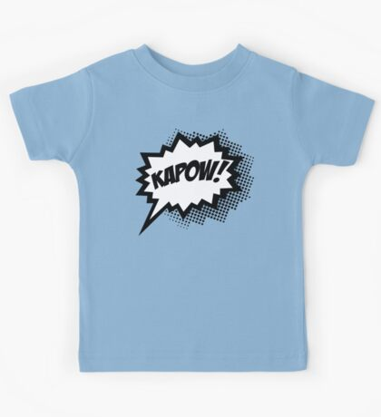 COMIC POW! Speech Bubble, Comic Book Explosion, Cartoon Kids Tee