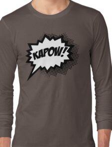 COMIC POW! Speech Bubble, Comic Book Explosion, Cartoon Long Sleeve T-Shirt
