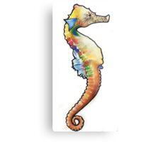 Psychedelic Seahorse Metal Print