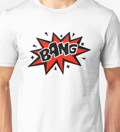COMIC BANG! Speech Bubble, Comic Book Explosion, Cartoon Unisex T-Shirt