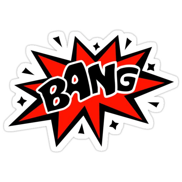 """COMIC BANG! Speech Bubble, Comic Book Explosion, Cartoon"" Stickers by boom-art   Redbubble"