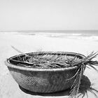 Round Fishing Boat by Erika Price