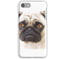 Dog with human eyes phone case iPhone Case/Skin