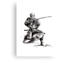 Samurai art print samurai sword japan poster japan photography japan style japan wall decor samurai poster printable japanese art sumi-e Canvas Print