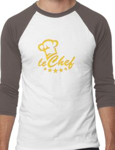 LE CHEF, Cook Hat - Five Stars, Cooking, Kitchen Men's Baseball ¾ T-Shirt