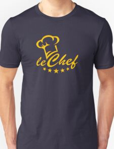 LE CHEF, Cook Hat - Five Stars, Cooking, Kitchen T-Shirt