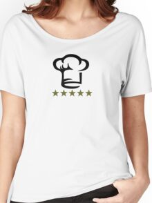 Chef Cook Hat, Cooking, Kitchen, Hotel, Restaurant Women's Relaxed Fit T-Shirt