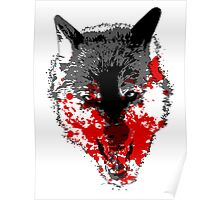 Angry Blood Wolf Poster