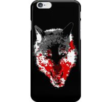 Angry Blood Wolf iPhone Case/Skin