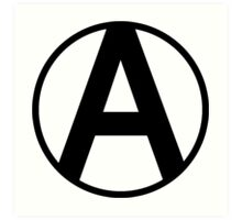 Anarchy Symbol Art Print
