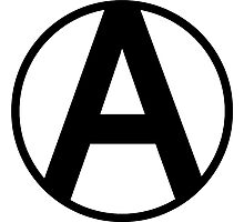 Anarchy Symbol Photographic Print