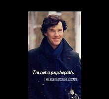 I'm not a Psycopath. I'm a high functioning sociopath.  by Madamesophine