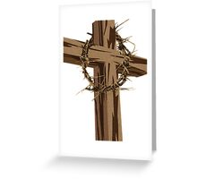 Cross and Crown of Thorns Greeting Card