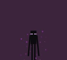 Minecraft Enderman Phone Case by goyangi