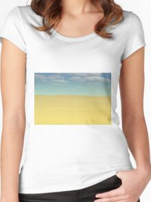 desert landscape Women's Fitted Scoop T-Shirt