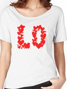 LOVE Couple, Heart, I Love You, Pair, Valentine` Day Women's Relaxed Fit T-Shirt