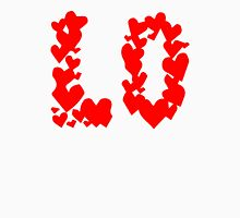 LOVE Couple, Heart, I Love You, Pair, Valentine` Day Womens Fitted T-Shirt
