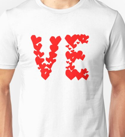 LOVE Couple, Heart, I Love You, Pair, Valentine` Day Unisex T-Shirt