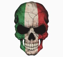 Italian Flag Skull by Jeff Bartels