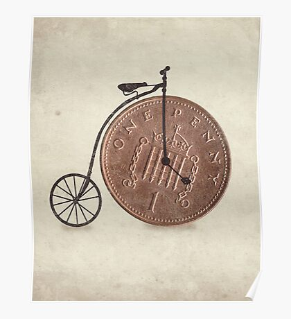 Penny Farthing Poster