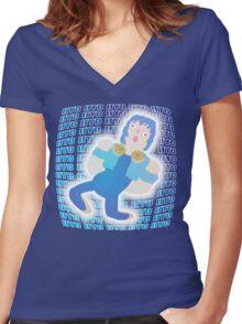 AOBA CAKE Women's Fitted V-Neck T-Shirt