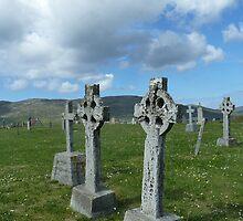 Celtic Crosses, Scotland by Mandy Elizabeth  Rush