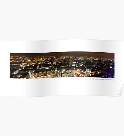 George Square Glasgow, by night Poster