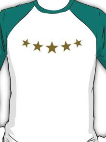 FIVE STARS, Gold, Winner, Best, Hero, Chef, Team, Award T-Shirt