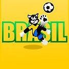 Brasil Football Cat by pda1986