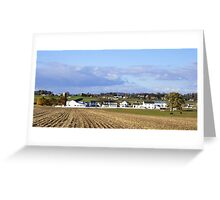 An Amish Landscape Greeting Card