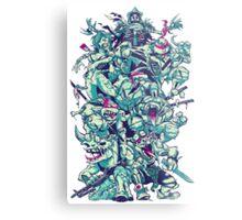 Nuclear Zombie Ninja Turtles Metal Print
