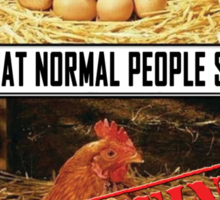 Meme-what the normal people see Sticker