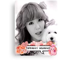 Tiffany Hwang SNSD Canvas Print