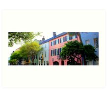 Rainbow Row in Spring Art Print