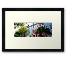 Rainbow Row in Spring Framed Print
