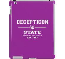 Decepticon State (White) iPad Case/Skin