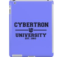 Cybertron University  (Black) iPad Case/Skin