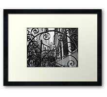 Wrought Iron in Black and White Framed Print