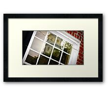 Reflection with Brick 2 Framed Print