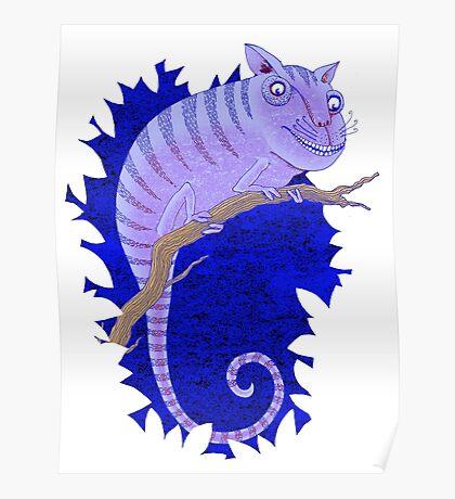 Cheshire Cat Chameleon Poster