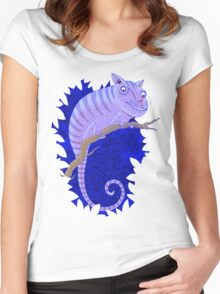 Cheshire Cat Chameleon Women's Fitted Scoop T-Shirt