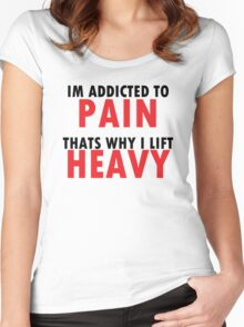 lift heavy Women's Fitted Scoop T-Shirt