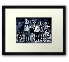 the girls inquisition Framed Print