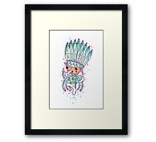 Indian pixie chief Framed Print