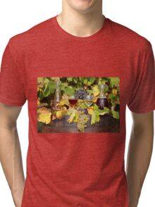red and white wine autumn scene Tri-blend T-Shirt