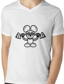 mouse sport weight lifting Mens V-Neck T-Shirt