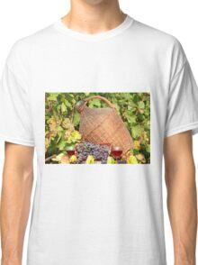 red wine autumn scene Classic T-Shirt
