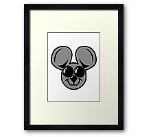 fun friendly mouse sunglasses Framed Print