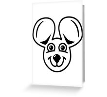 mouse funny friendly Greeting Card