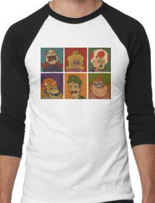 Mushroom kingdom memes Men's Baseball ¾ T-Shirt